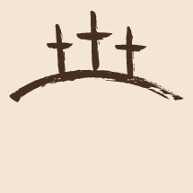 hand drawn crosses on a hill.