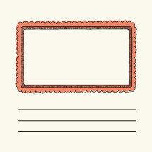 oblong, border, box, frame, note, lines, mail, stamp, envelope