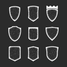 Shields Grunge Outlines