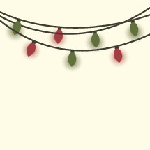 string of red and green Christmas lights