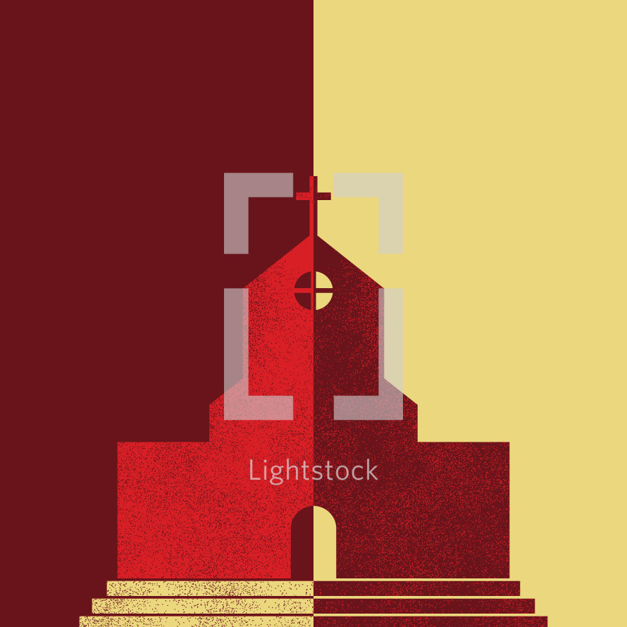 church split conceptual illustration.