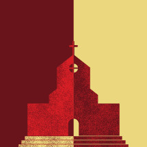 church split conceptual illustration.