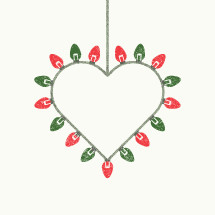 Christmas lights heart
