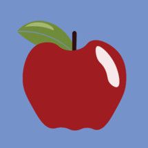 Large Red Apple vector for media usage