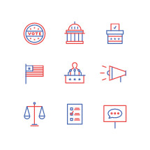 election day icon set
