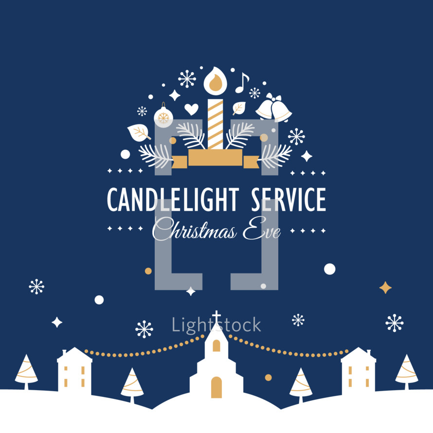 Christmas Eve Candlelight Service Invitation