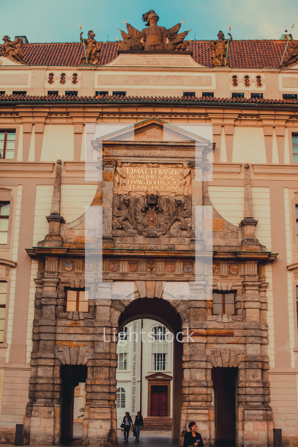 The Prague Vitruvias -- Matthias Gate at Prague Castle.