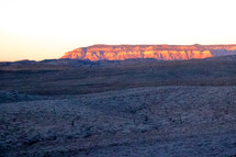 sunlight shining on a plateau