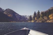 boat stern on water