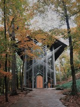 glass church, Thorncrown Chapel in Eureka Springs, Arkansas