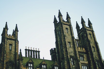 towers on a grand historic building