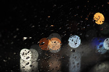 Bokeh and waterdrops