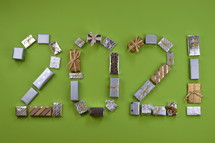 advent gifts in the shape of 2021