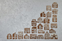 advent calendar out of 24 different gingerbread houses
