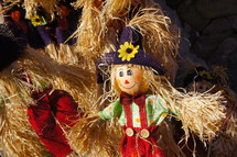 scarecrow in straw