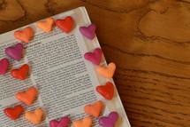 God's Love, hearts around Bible verse