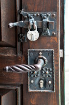 Antique door lock.