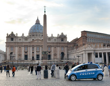 Saint Peter in Vatican City there has been an increase in police checks.