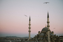 Towers of a mosque in Turkey.
