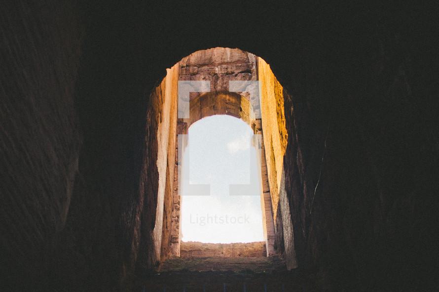 sunlight entering a basement window