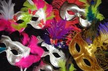 Mardi gras or masquerade masks