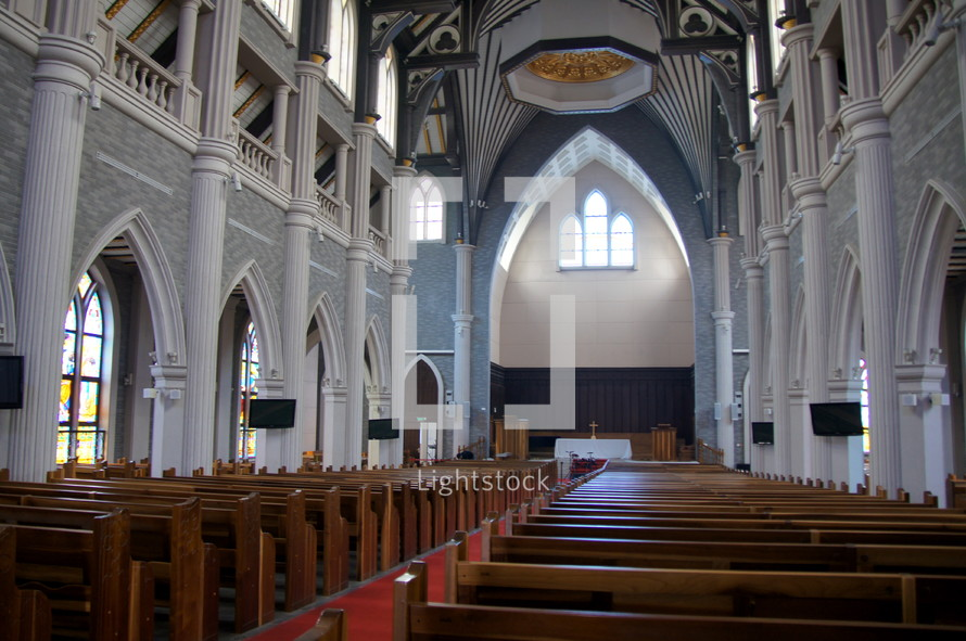 Interior of Suzhou Lake Three Self Patriotic Church. China