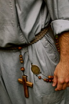 rosary on a belt
