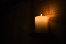 candlelight in darkness