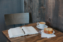 open Bible and breakfast