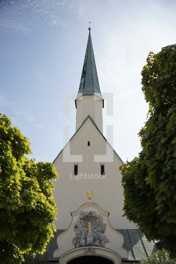 Church in Altoetting Bavaria Germany