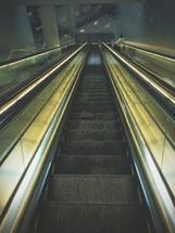 An escalator.