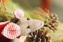 cute little mouse decoration for Christmas season