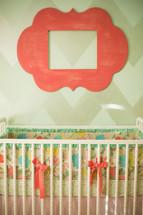 frame over a crib