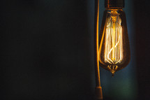 glowing Edison Bulb