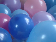 baby shower decoration,  balloons, color, party, baby shower, happy, bright, joy, blue, pink, rose, baby, boy, girl, expectation, gleeful anticipation, awaiting, round, new, air, colour, colorful, new year, birthday, celebration, celebrate, decoration