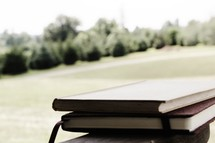 stack of books and journals
