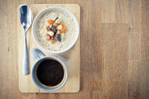 porridge with nuts and fruit