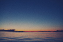 blue sky - lake, sunrise horizon