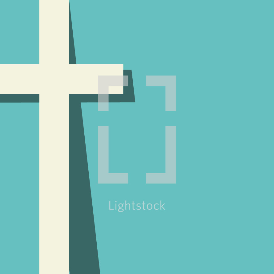 Vector cross illustration with shadow,