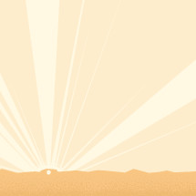 A simple background illustration of the sky on Easter morning.