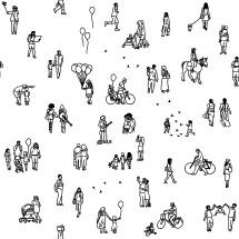 tiny people background