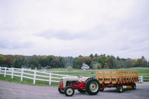 tractor and wagon ready for a hay ride