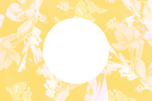 circle on yellow