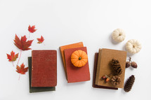 books and fall items
