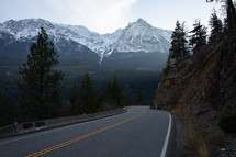 mountain road in Canada