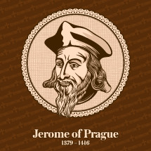 Jerome of Prague (1379 – 1416) was a Czech scholastic philosopher, theologian, reformer, and professor. Jerome was one of the chief followers of Jan Hus. Christian figure.