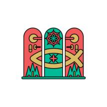 Church logo. Christian symbols. Cross of the Lord and Savior Jesus Christ.