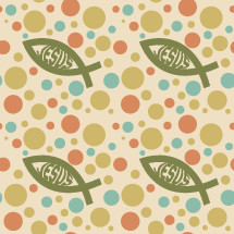 Jesus fish and dot pattern background