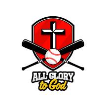 all glory to God, softball on a shield