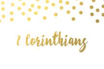 gold dot border, 2 Corinthians
